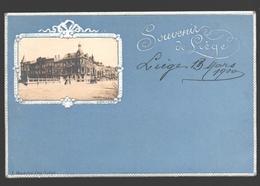 Liège - Souvenir De Liège - 1900 - Carton Bleu / Blauw Karton - Reliëf - éd. Maréchal-Ory, Liège - Luik