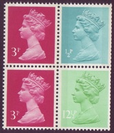1983 GB Machin Block Of 4 -  2 X 3p 1 X ½p And 1 X 12½p UM / MNH - 1952-.... (Elizabeth II)