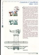2015, DOCUMENT OFFICIEL DE LA POSTE: Gaston Caudron, 1882 1915, Poste Aerienne - Documents Of Postal Services