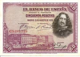 Spain  P-75  50 Pesetas  1928 - [ 1] …-1931 : Eerste Biljeten (Banco De España)