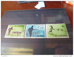 TIMBRE DE SAINT MARIN.   YVERT N° 562--566 - Saint-Marin