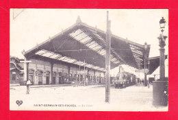F-03-Saint Germain Des Fossés-06Ph97 La Gare, Le Train, Cpa (état) - Otros Municipios