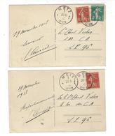 WW1 - Metz Semeuse Cad 20 Novembre 1918 ( Jour De L'entrée Des Troupes Françaises à Metz ) - Marcophilie (Lettres)