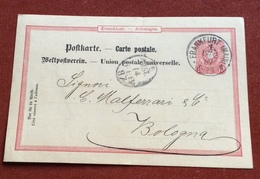 GERMANY POSTKART 10 P. FROM  FRANKFURT (MAIN)  12/2/87 + CARLO MALFERRARI E FIGLI  TO BOLOGNA - Germany