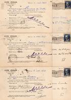 France - CPA - Bulletin D'absence Lycée Fénelon Paris 1934 - Timbre Y&T N° 295 - Marcophilie (Lettres)