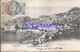 100806 CROATIA REPUBIC RAGUSA ITALY VIEW GENERAL SPOTTED CIRCULATED TO ARGENTINA POSTAL POSTCARD - Croatia