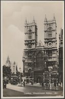 Westminster Abbey, London, C.1920s - RP Postcard - Westminster Abbey