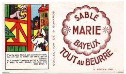 Buvard Sablé Marie à Bayeux. Illustration : Chansons Et Comptines. C'est La Mère Michel... - Cake & Candy