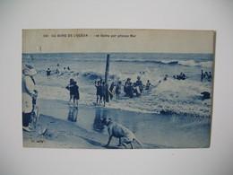 Carte  Thème  De La Mer  -  Au Bord De L'Océan - Les Bains Par Grosse Mer 1927 - Cartes Postales