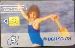 Telefonkarte Peru - Girl On The Beach - Peru