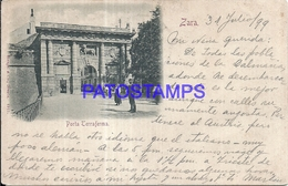 100807 CROATIA ZARA ZADAR DOOR TERRAFERMA CIRCULATED TO ARGENTINA POSTAL POSTCARD - Croatia