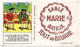 Buvard Sablé Marie à Bayeux. Illustration : Chansons Et Comptines. J'ai Du Bon Tabac... - Cake & Candy