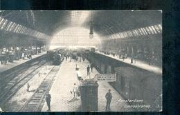 Amsterdam - Stoomtrein - Station - 1915 - Amsterdam