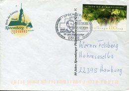 38502 Germany, Special Postmark 2001  Henry Dunant, Spremberg,  Circuled Cover - Henry Dunant