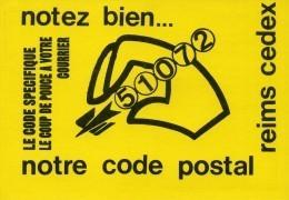 FRANCE - Propagande Du Code Postal Dans Les Années 1970 / 80 - Reims Cedex 51072 - Documents De La Poste