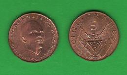 Rwanda  5 + 2 + 1 Cents Ruanda - Rwanda