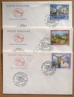 FDC Cavallino Repubblica 2005 - Turistica - Amalfi - Asolo - Rocchetta Volturno - Francobolli