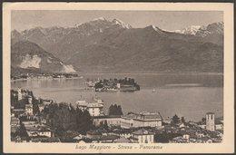 Panorama, Stresa, Lago Maggiore, Piemonte, 1923 - Luigi Grisoni Cartolina - Italy