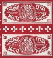Ancienne Etiquette Chicorée Extra Garantie Pure Mogta Williot Fils Fabricant Poix Du Nord  250g - Fruits Et Légumes