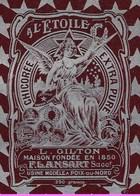 Ancienne Etiquette Chicorée Extra  Pure  A L'étoile  L Gilton Fondée En 1850 F Lansart Succt Poix Du Nord  250g - Fruits Et Légumes