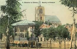 - Marne -ref-A805- Sezanne - Le Champ Benoit - Kiosque - Kiosques - Carte Toilee Colorisee Bon Etat - - Sezanne