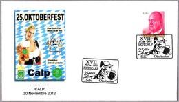 25 FIESTA DE LA CERVEZA - OKTOBERFEST. Calp. Alicante, 2012 - Bières