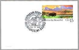 FIESTA ALEMANA GERMAN FEST - Jarra De Cerveza - Beer Mug. Milwaukee WI 1988 - Cervezas