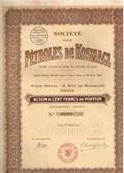 Ancienne Action - Société Des Pétroles De Kosmacz - Titre De 1924 - Pétrole