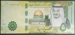 "Saudi Arabia 2017 Banknote 50 Riyals Serial ""A"" Pick New UNC - Saudi Arabia"