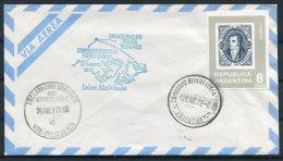 1972 Argentina Comodoro Rivadavia Polar Airletter, Islas Malvinas, Port Stanley, Falkland - Storia Postale
