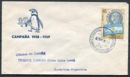 1959 Argentina Antartida Antarctica Polar Penguin Cover. Teniente Camara - Covers & Documents