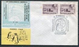 Argentina Antartida Antarctica 'Enero 1966' Ushuaia Penguin Cover - Antarctic Expeditions