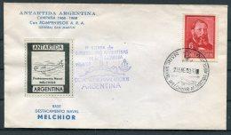 1969 Argentina Antartida Antarctica Naval Melchior Polar Ship Cover - Research Stations