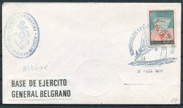 1971 Argentina Antartida Antarctica Polar Cover. General Belgrano Base, Ship, General San Martin - Research Stations