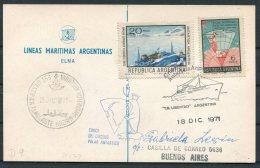 1971 Argentina Antartida Antarctica Polar Lineas Maritimas Argentinas Elma LIBERTAD Ship Postcard - Polar Ships & Icebreakers