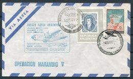 1972 Argentina Antartida Antarctica Polar Airletter Operacion Marambio V Flight - Vols Polaires