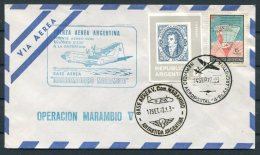 1972 Argentina Antartida Antarctica Polar Airletter Operacion Marambio V Flight - Polar Flights