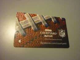 U.S.A. Marriott Courtyard Hotel Room Key Card (NFL American Football) - Cartes D'hotel
