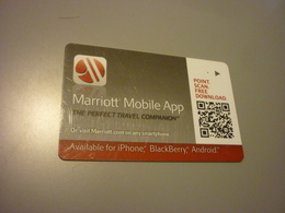 U.S.A. Marriott Hotel Room Key Card (Marriott Mobile App) - Cartes D'hotel