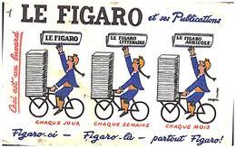 J F/Buvard Jounal Figaro (Format 21 X 13.5) (N= 1) - Buvards, Protège-cahiers Illustrés