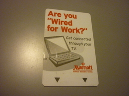U.S.A. Marriott Hotel Room Key Card (wired For Work) - Cartes D'hotel