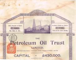 Ancienne Action - Petroleum Oil Trust Ltd - Titre De 1894 - Pétrole