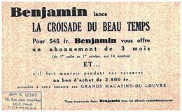 J B/Buvard Jounal Benjamin  (Format 20 X 12.5) (N= 1) - Buvards, Protège-cahiers Illustrés