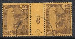 "TUNISIE N°101 En Paire Millésimée ""6"" - Used Stamps"