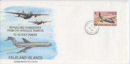 Falkland Islands 1996 Refuelling Changeover From C1K Hercules Tankers To VC10K2 Tanker Commemorative Cover (F7533) - Falklandeilanden