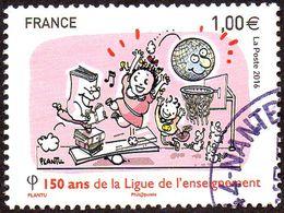 Oblitération Cachet à Date Sur Timbre De France N° 5072 - 150 Ans De La Ligue De L'enseignement - France
