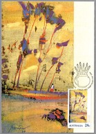 Pintura SALMON GUNS - Robert Juniper. Australia 1990 - Arte
