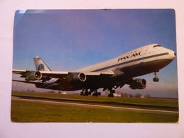 AIRLINE ISSUE / CARTE COMPAGNIE      PAN AM  B 747 100 - 1946-....: Ere Moderne