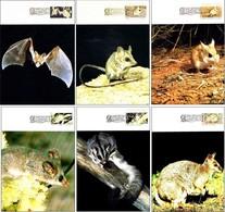 ESPECIES EN PELIGRO - THREATENED SPECIES. Set 6 TM/MC Australia 1992 - Protección Del Medio Ambiente Y Del Clima