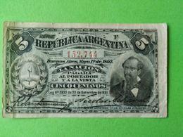 Cinco Centavos 1892 - Argentina